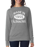"[daataadirect.co.uk]-Made in 1955 All Orignal Parts Women Sweat Shirts White-SweatShirts-ANVIL-Heather Grey-S UK 10 Euro 34 Bust 32""-Daataadirect"