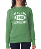 Made in 1985 All Original Parts Women Sweat Shirts White-ANVIL-Daataadirect.co.uk