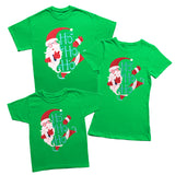 Happy Santa HO HO HO Christmas Elf T-Shirt-Gildan-Daataadirect.co.uk