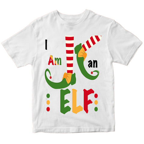 Christmas I Am An Elf T-Shirt-Gildan-Daataadirect.co.uk