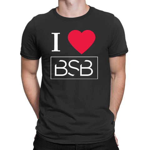 I Love Bsb Mens T Shirts-Gildan-Daataadirect.co.uk