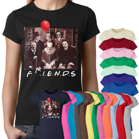 IT Horror Friends T-Shirt-Gildan-Daataadirect.co.uk