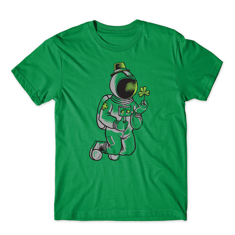 Irish Astronaut Happy St Patrick Day 2020 T-Shirt-Gildan-Daataadirect.co.uk