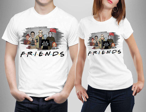 Horror Friends Jason Voorhees Horror Movie T-Shirts-Gildan-Daataadirect.co.uk