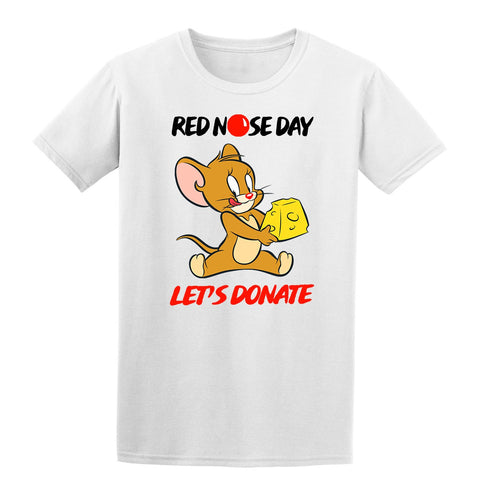 Jerry Red Nose Day Boy Girl School Kids T-Shirt-Gildan-Daataadirect.co.uk