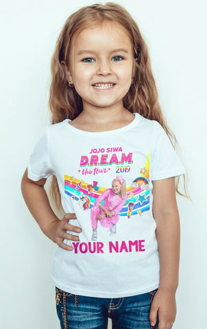 JOJO SIWA Little Girl Dream Tour UK 2019 T-shirt-Gildan-Daataadirect.co.uk