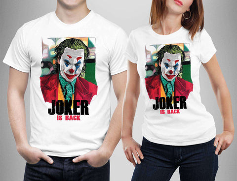 Joker Is Back Joaquin Phoenix Joker 2019 T-Shirt-Gildan-Daataadirect.co.uk
