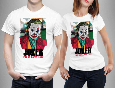 Joker Jackbicholson Quinn phoenix Hamill Heath ledger Romero T-Shirt-Gildan-Daataadirect.co.uk