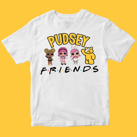 Charity Girl Dolls Pudsey Bear Kids T-shirt-Gildan-Daataadirect.co.uk