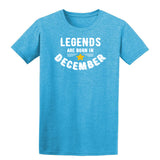 Legends Are Born In December Mens T-Shirt Heather Sapphire 2XL
