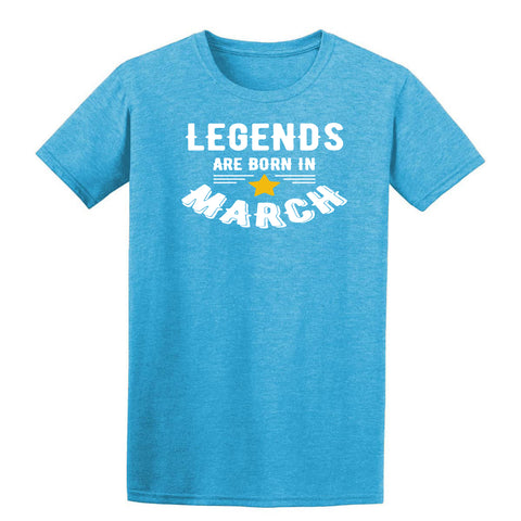 Legends Are Born In March Mens T-Shirt-Gildan-Daataadirect.co.uk