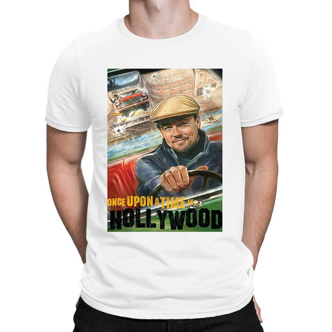 Leonardo Dicaprio Once Upon A Time Hollywood Mens T-Shirt-Gildan-Daataadirect.co.uk