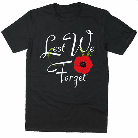 Lest We Forget Remembrance Day T-shirt World War Soldier T-shirt-Gildan-Daataadirect.co.uk