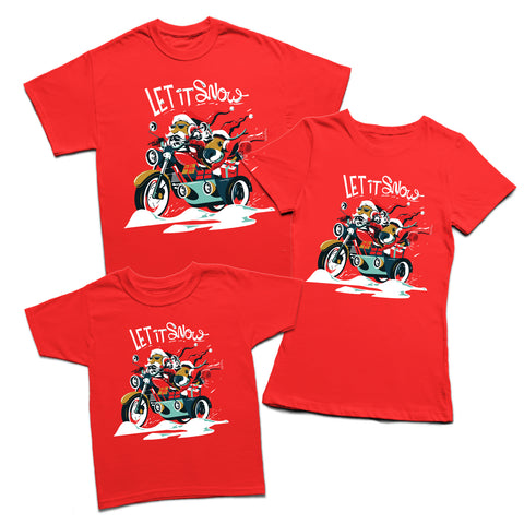 Let it Snow Santa T-shirt-Gildan-Daataadirect.co.uk