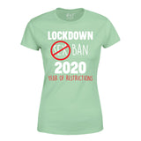 Year of Restrictions Dad Mum Funny Lockdown 2020 T-shirt-Gildan-Daataadirect.co.uk