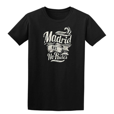 MADRID NO RULES Mens T-Shirt-Gildan-Daataadirect.co.uk