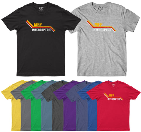 MFP Interceptor Movie Inspired Mens T Shirt Best V8 Car T-Shirt-Gildan-Daataadirect.co.uk