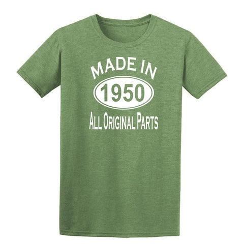 Made in 1950 all original parts 69th Birthday Gift Present Mens T-Shirt-MADE IN (BIRTH YEAR) ALL ORIGINAL PARTS-Daataadirect.co.uk