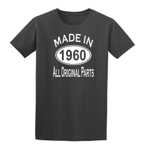 Made in 1960 all original parts 59th Birthday Gift Present Mens T-Shirt-MADE IN (BIRTH YEAR) ALL ORIGINAL PARTS-Daataadirect.co.uk