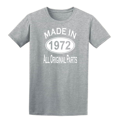 Made in 1972 all original parts 47th Birthday Gift Present Mens T-Shirt-MADE IN (BIRTH YEAR) ALL ORIGINAL PARTS-Daataadirect.co.uk