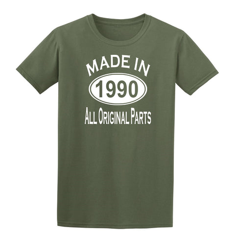 Made in 1990 all original parts 29th Birthday Gift Present Mens T-Shirt-MADE IN (BIRTH YEAR) ALL ORIGINAL PARTS-Daataadirect.co.uk