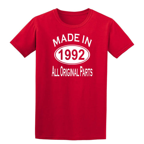 Made in 1992 all original parts 27th Birthday Gift Present Mens T-Shirt-MADE IN (BIRTH YEAR) ALL ORIGINAL PARTS-Daataadirect.co.uk