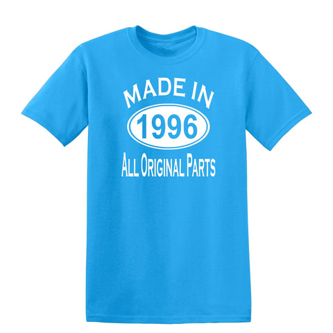 Made in 1996 all original parts 23th Birthday Gift Present Mens T-Shirt-MADE IN (BIRTH YEAR) ALL ORIGINAL PARTS-Daataadirect.co.uk