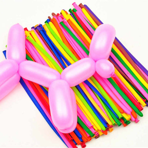 "Magic Strip Balloons , Multicolors Pack of ""260""-Puppy Kitty Balloons-Daataadirect.co.uk"