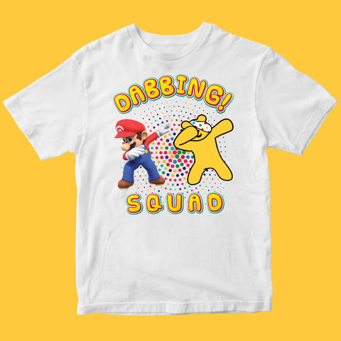Dabbing Squad Pudsey Bear Kids T-shirt-Gildan-Daataadirect.co.uk