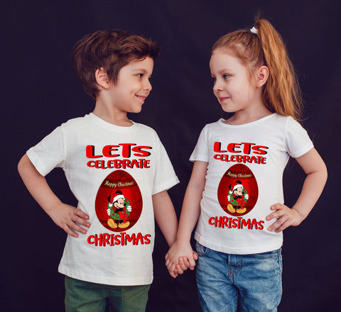 Lets Celebrate Christmas Funny Cartoon T-Shirt-Gildan-Daataadirect.co.uk