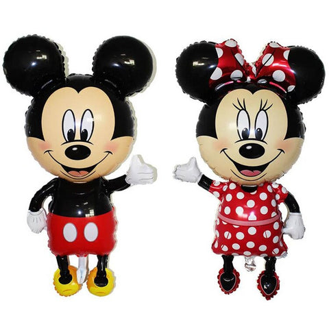 "32"" Mickey Minnie Aluminum Birthday Party Decoration Holiday Layout Aluminum Foil Balloon-Puppy Kitty Balloons-Daataadirect.co.uk"