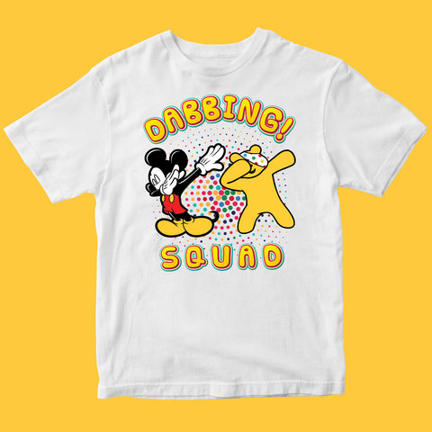 Dabbing Mouse Spotty Day Kids T-shirt-Gildan-Daataadirect.co.uk