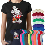 Mickey Mouse Halloween Pumpkin Scary Trick And Treat Mouse T-Shirt-Gildan-Daataadirect.co.uk