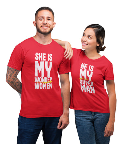 Valentines Day Wifey Boyfriend Couple T-Shirt-Gildan-Daataadirect.co.uk