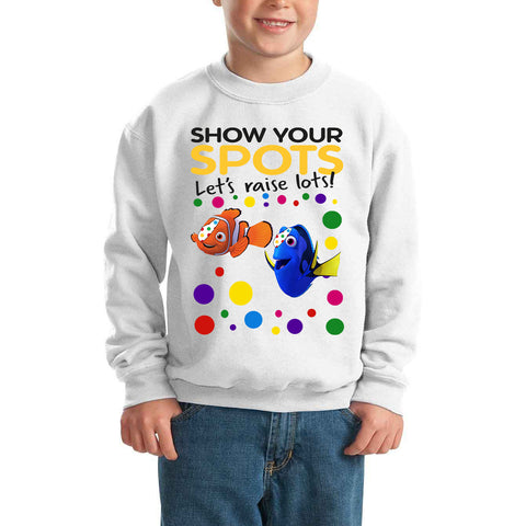 Best Nemo Pudsey Bear Spotty Day - Kids SweatShirt-Gildan-Daataadirect.co.uk