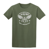 Never Underestimate An Old Man With A Motorcycle T-Shirt-Gildan-Daataadirect.co.uk