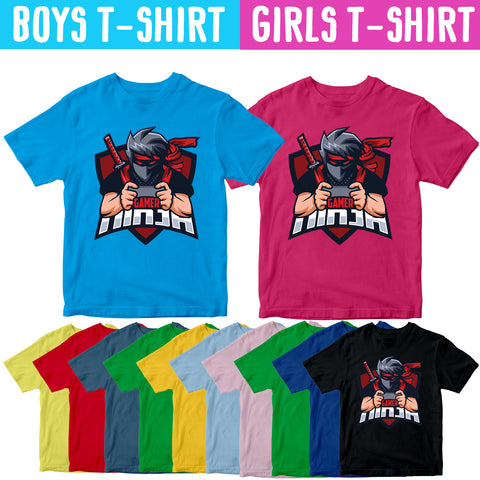 Kids Gamer Kung Fu Sword Martial Art Boys Girls T-shirt Karate Children Top Tee