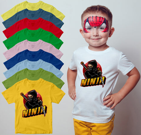 Kids Gamer Kung Fu Sword Martial Art Boys Girls T-shirt Karate Sword Top Tee