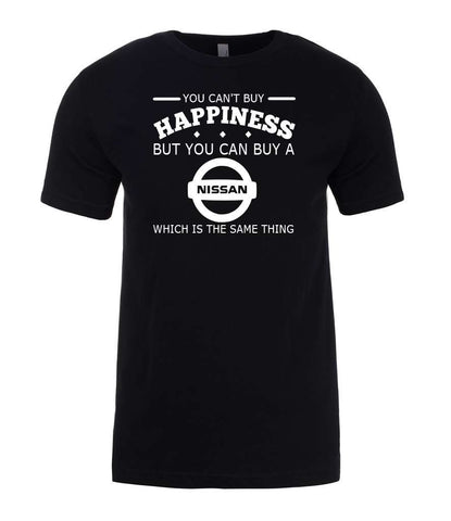 Nissan You Can't Buy Happiness but You Buy Nissan Mens T-Shirt-Gildan-Daataadirect.co.uk
