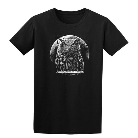 OWL MOON Mens T-Shirt-Gildan-Daataadirect.co.uk
