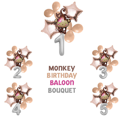 Monkey Bouquet Balloons Party Supplies Balloons Birthday Party Decorations Kit-Puppy Kitty Balloons-Daataadirect.co.uk