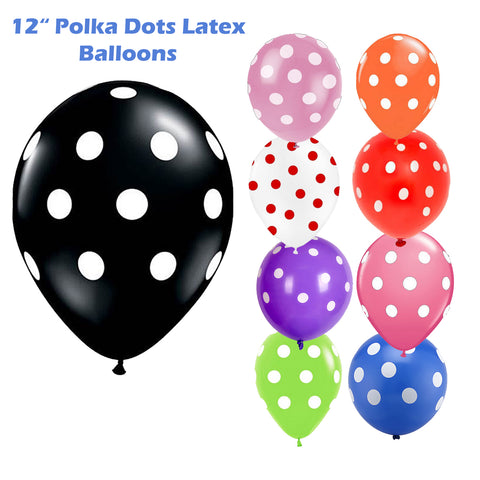 "12"" Polka Dot Balloons Wedding Party Decorating Ballons Children Birthday Party-Puppy Kitty Balloons-Daataadirect.co.uk"