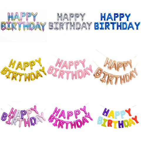 "16"" Happy Birthday Balloons Banner Letter Foil Party Balloon-Puppy Kitty Balloons-Daataadirect.co.uk"