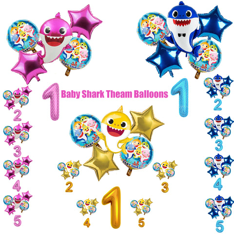 Baby Shark Party Supplies Balloons Birthday Party Decorations Kit-Puppy Kitty Balloons-Daataadirect.co.uk