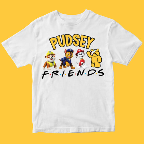 School Event PUGS Pudsey Bear Kids T-shirt-Gildan-Daataadirect.co.uk