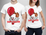 Pennwise want a balloon IT Chapter 2 T- shirt Halloween Scary Horror T Shirts-Gildan-Daataadirect.co.uk