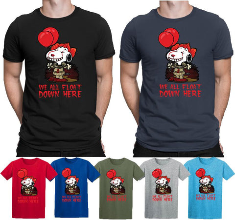 Pennywise T-shirt Halloween Funny Snoopy Horror IT Chapter 2 Top  T Shirts