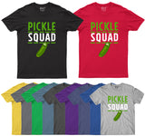 Pickle Squad Mens T Shirt Funny Squad Goals Lover Gift Party Adults T-Shirt-Gildan-Daataadirect.co.uk