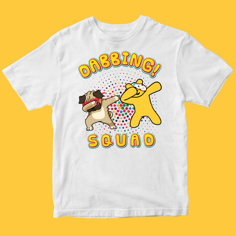 Dabbing PUG Pudsey Bear Kids T-shirt-Gildan-Daataadirect.co.uk