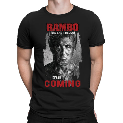 Death Is Coming Rambo T-Shirts-Gildan-Daataadirect.co.uk